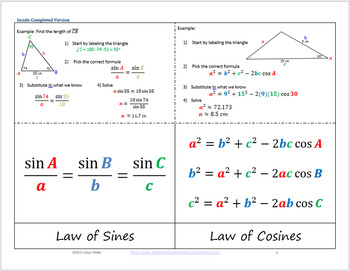 https://www.teacherspayteachers.com/Product/Law-of-Sine-and-Law-of-Cosine-Foldable-For-Oblique-Triangles-716112