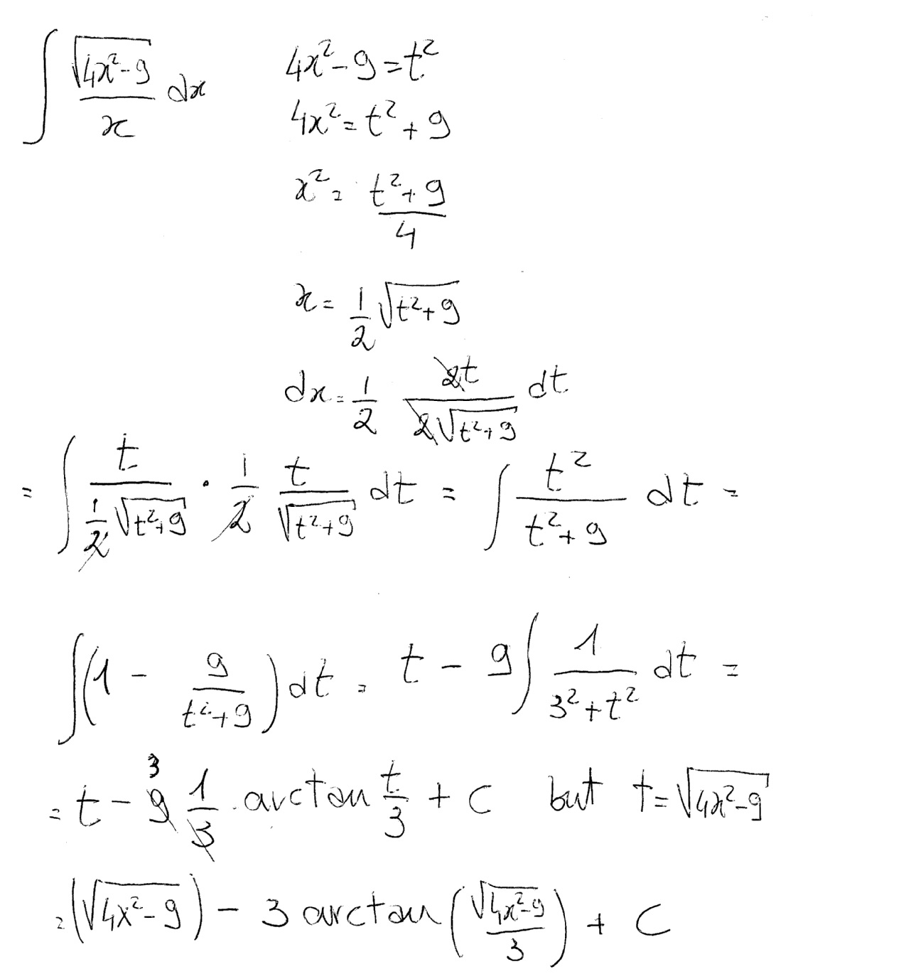 how do you find the integral of sqrt 4x 2 9 x socratic integral of sqrt 4x 2 9 x