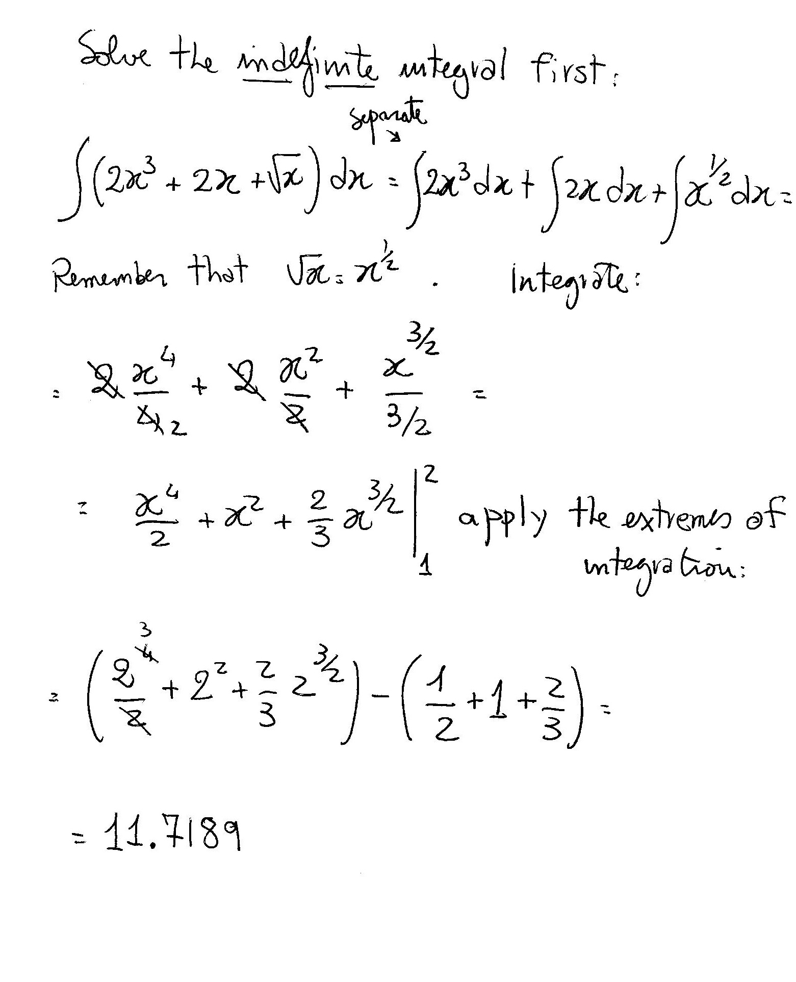 how to find definite integrals