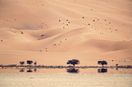 http://kids.britannica.com/elementary/art-89417/A-mirage-in-the-desert-of-Namibia-leads-people-to