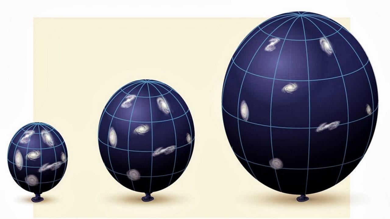 Expanding universe analogy