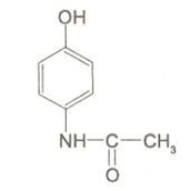 acetaminophen structure from DailyMed