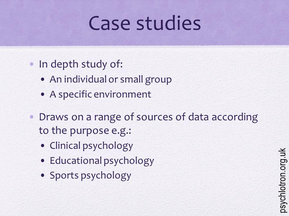 Case Studies Psychology