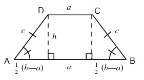 http://mathworld.wolfram.com/IsoscelesTrapezoid.html