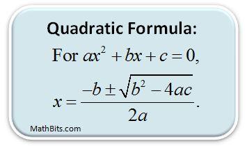 http://mathbitsnotebook.com/Algebra1/Quadratics/QDquadform.html