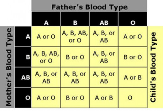 If My Blood Type Is O Positive What Kind Of Blood Types Did My Parents Have Socratic